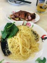 Duck noodles on Jalan Alor, the famous street for street food.
